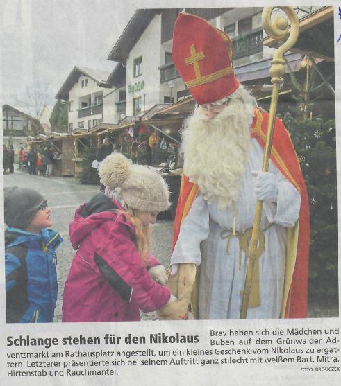 Schlange stehe für den Nikolaus