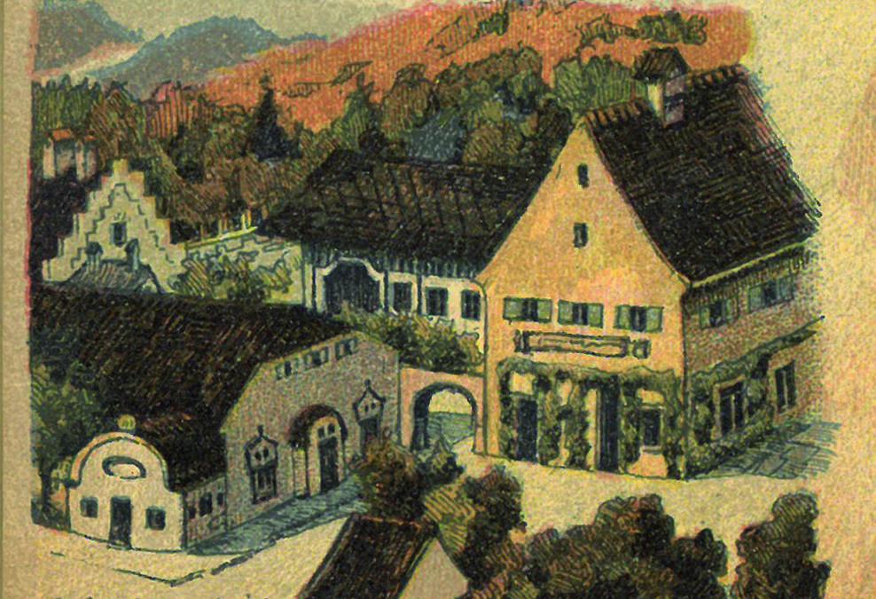 Vorschlag für einen Sonntagsausflug ins Isartal im Jahr 1901