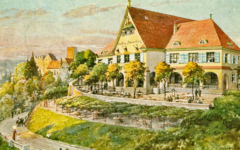 Die Gaststätte Römerschanze, ein Schauplatz vieler Festlichkeiten